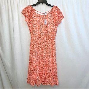J. Crew Floral Print Tiered Midi Dress Size 6